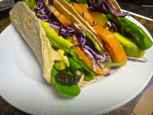 Detoxifying vegan wrap