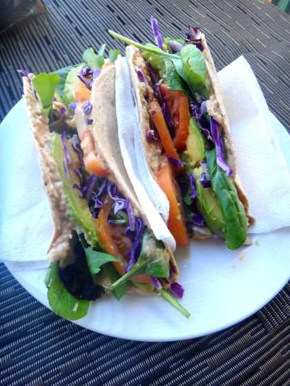 {Detoxifying vegan wrap: don't be scared by the title..it's delicious}