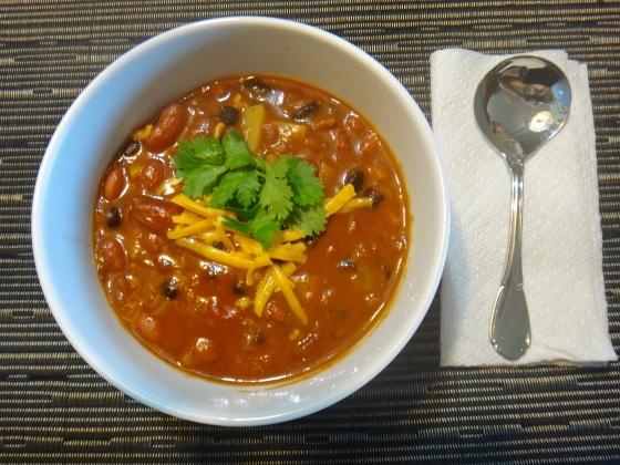Stovetop vegan chilli
