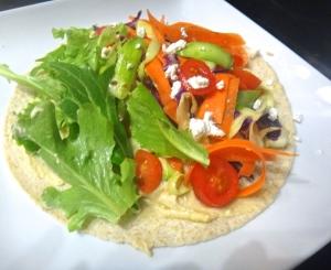Hummus & Ribbon salad wrap