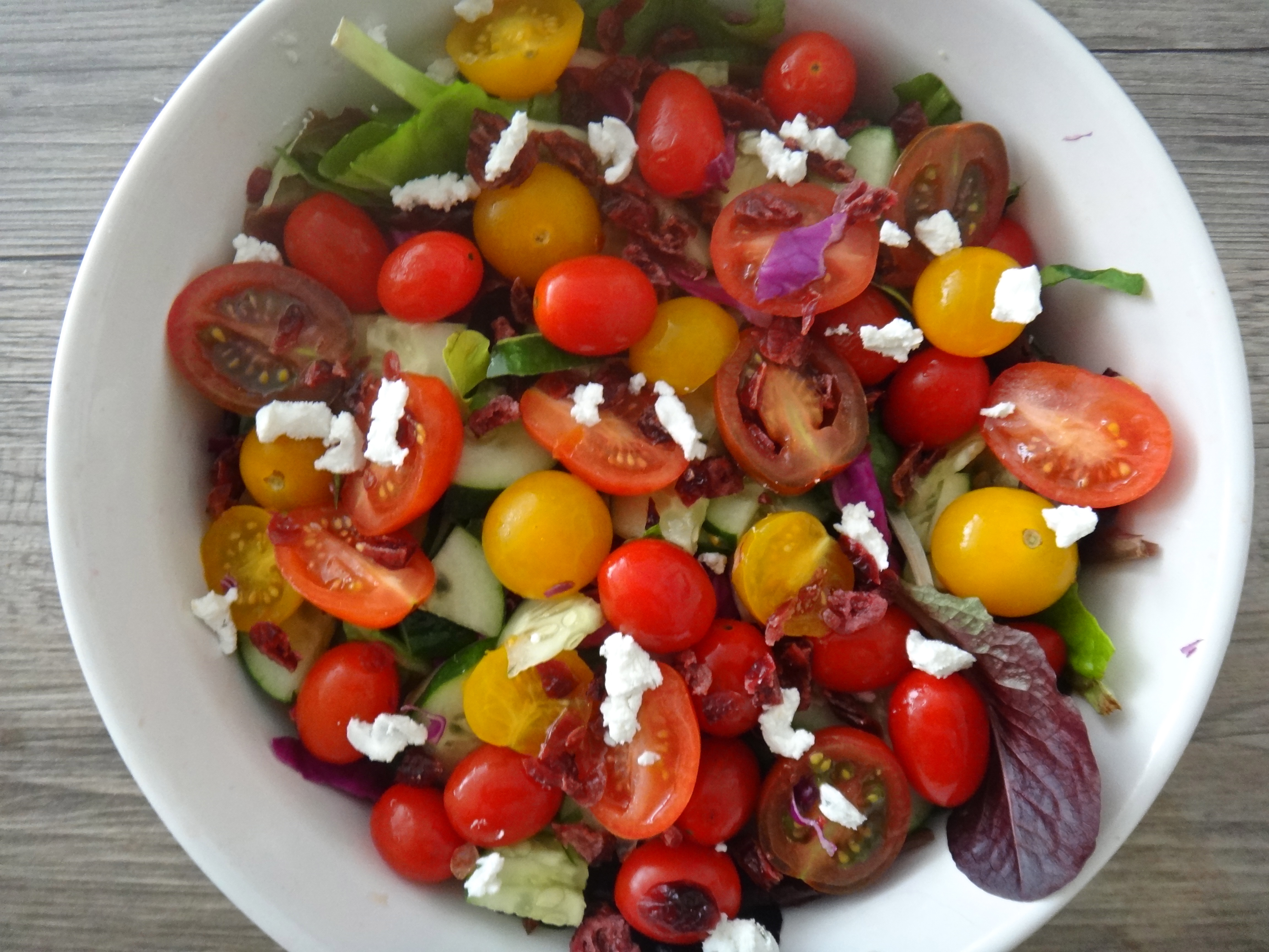 Baby Heirloom Tomato Salad: and a couple of salad dressing recipes}