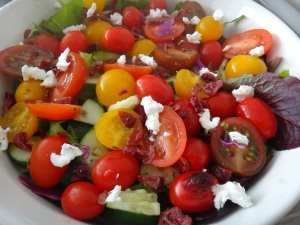 Baby Heirloom Tomato Salad