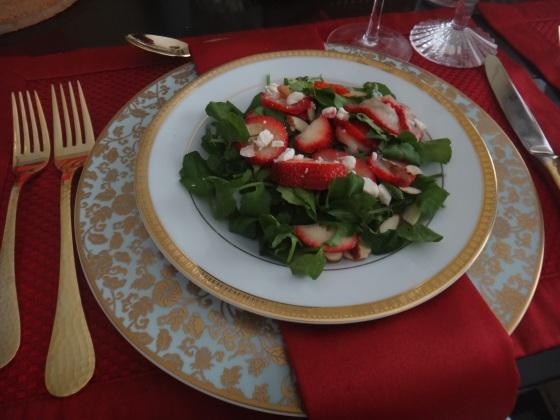 Strawberry & Watercress Salad