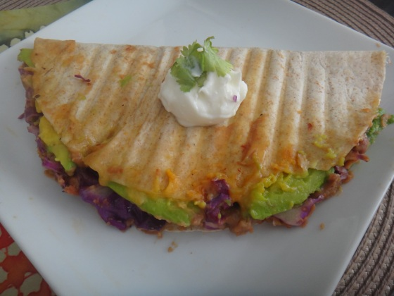 Avo-bean quesadilla