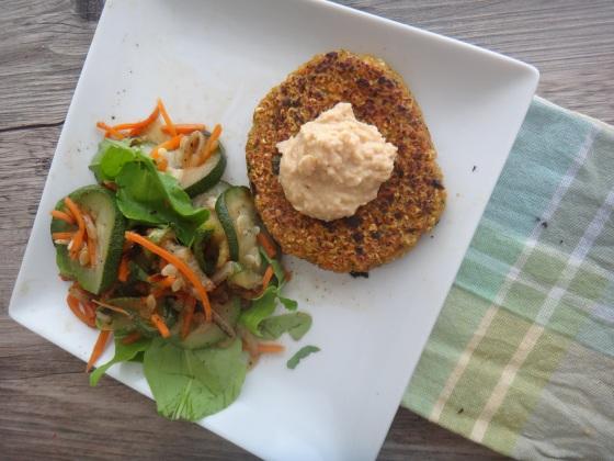 Veggie-oat burgers