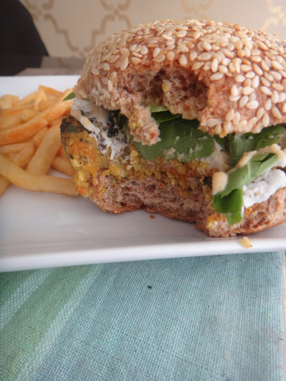 The veggie-oat burger