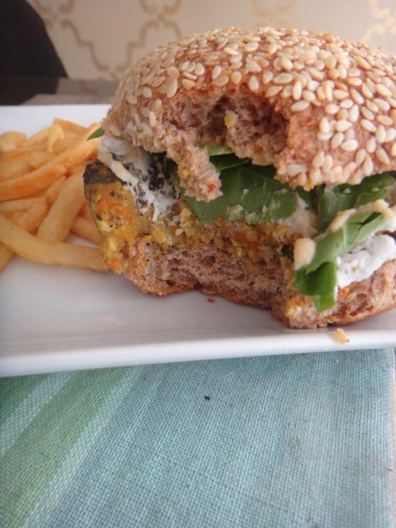 The veggie-oat burger