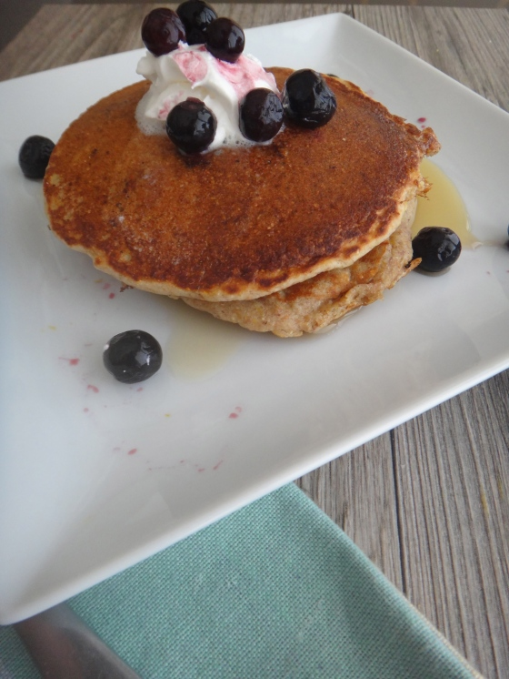 Meyer Lemon & Blueberry Pancakes