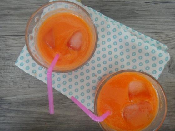 Papaya-carrot-orange-ginger juice