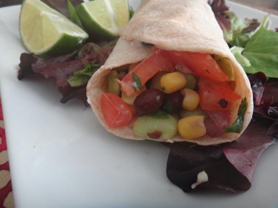 Vegan Bean Fiesta Burrito