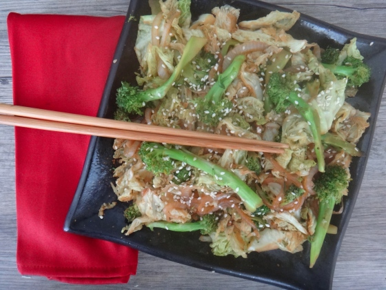 Broccoli + Cabbage Asian Stir-Fry