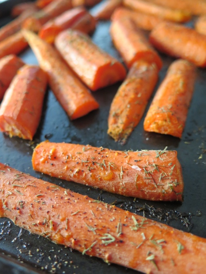 {Roasted carrots}